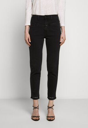 PEDAL PUSHER HIGH WAIST CROPPED LENGTH - Jean boyfriend - black