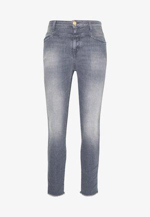 SKINNY PUSHER  HIGH WAIST CROPPED LENGTH - Skinny džíny - mid grey