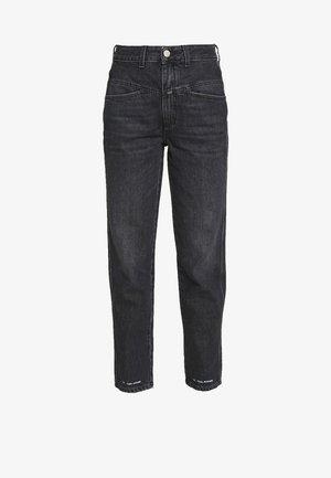 PEDAL PUSHER - Jean slim - dark grey