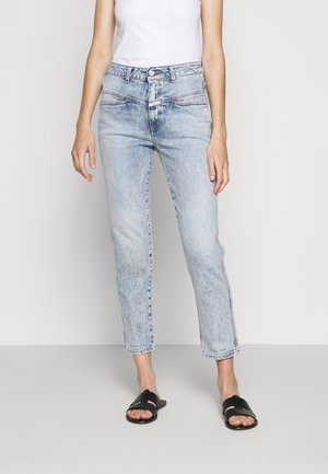 PEDAL PUSHER - Jeans slim fit - light blue