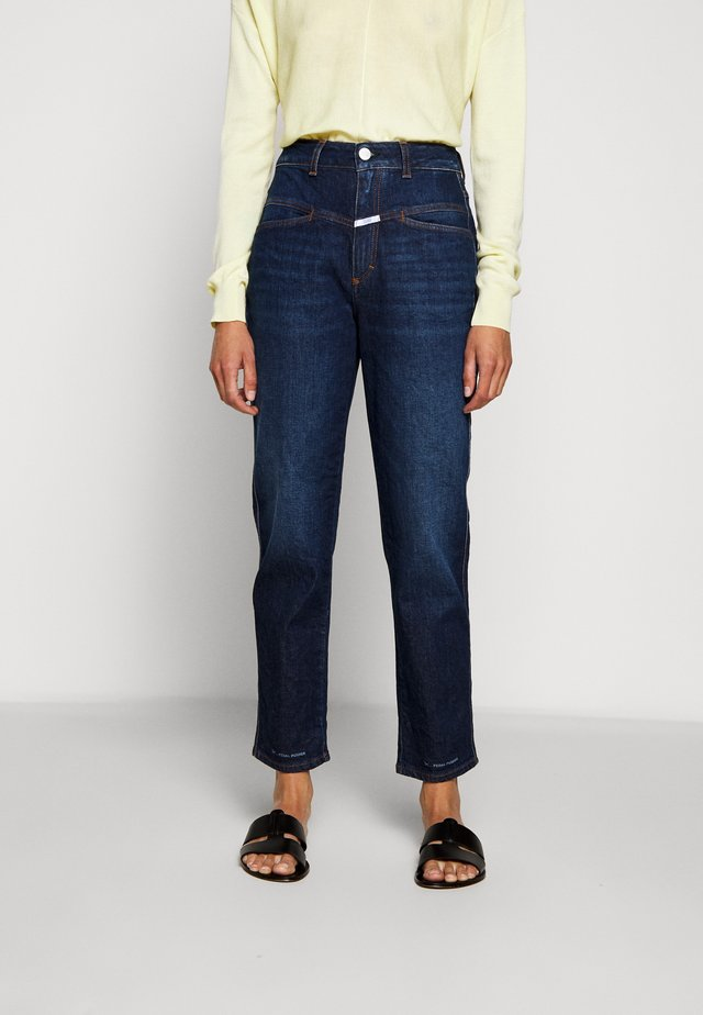 PEDAL PUSHER - Jeansy Straight Leg - dark blue