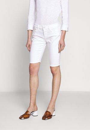 BAKER - Denim shorts - white