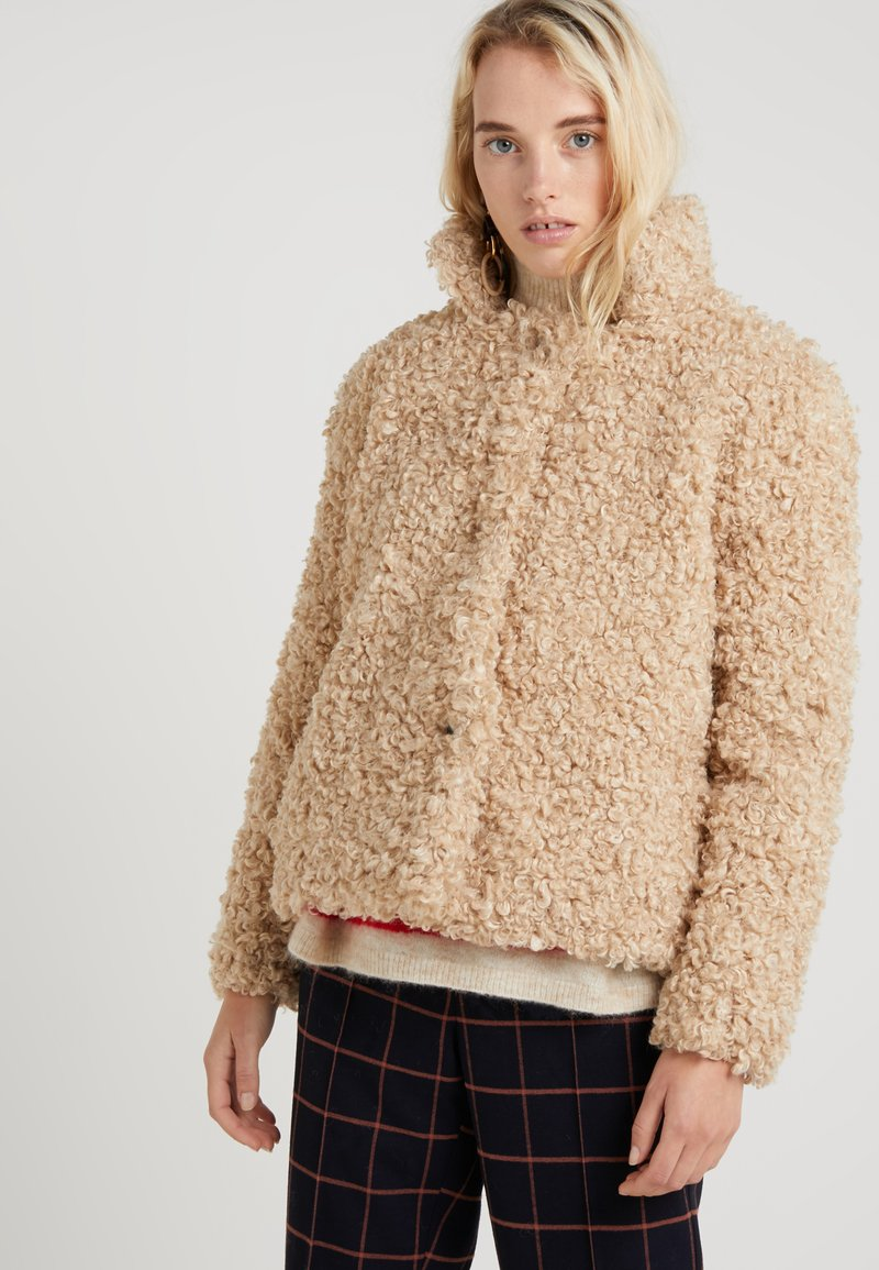 CLOSED - TEDDY - Winter jacket - biscuit
