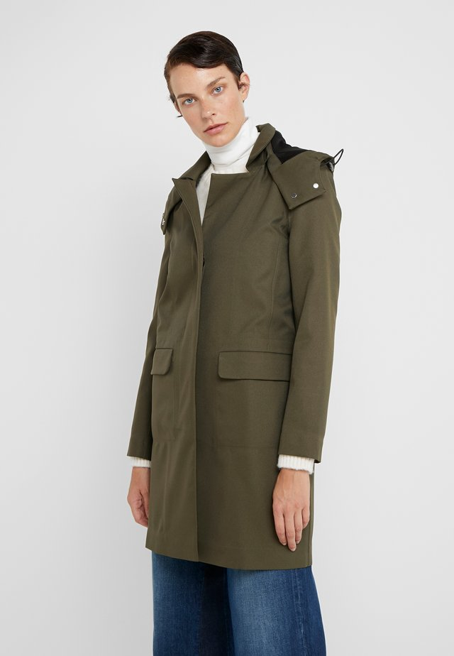 PORI - Trenchcoat - shadow green