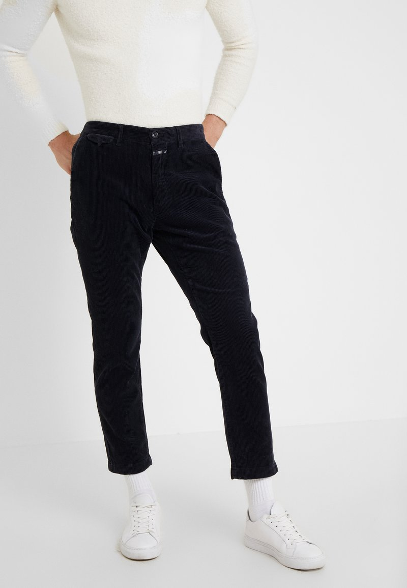 CLOSED - ATELIER CROPPED - Bukser - navy