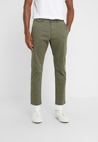 CLOSED - ATELIER CROPPED - Chino - deep woods - 0