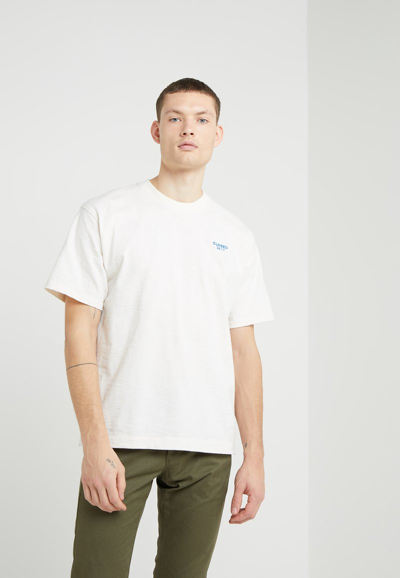 CLOSED - MEN'S TOP - T-Shirt basic - ivory