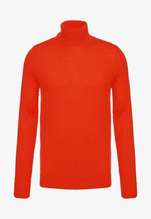 Stickad tröja - hot orange
