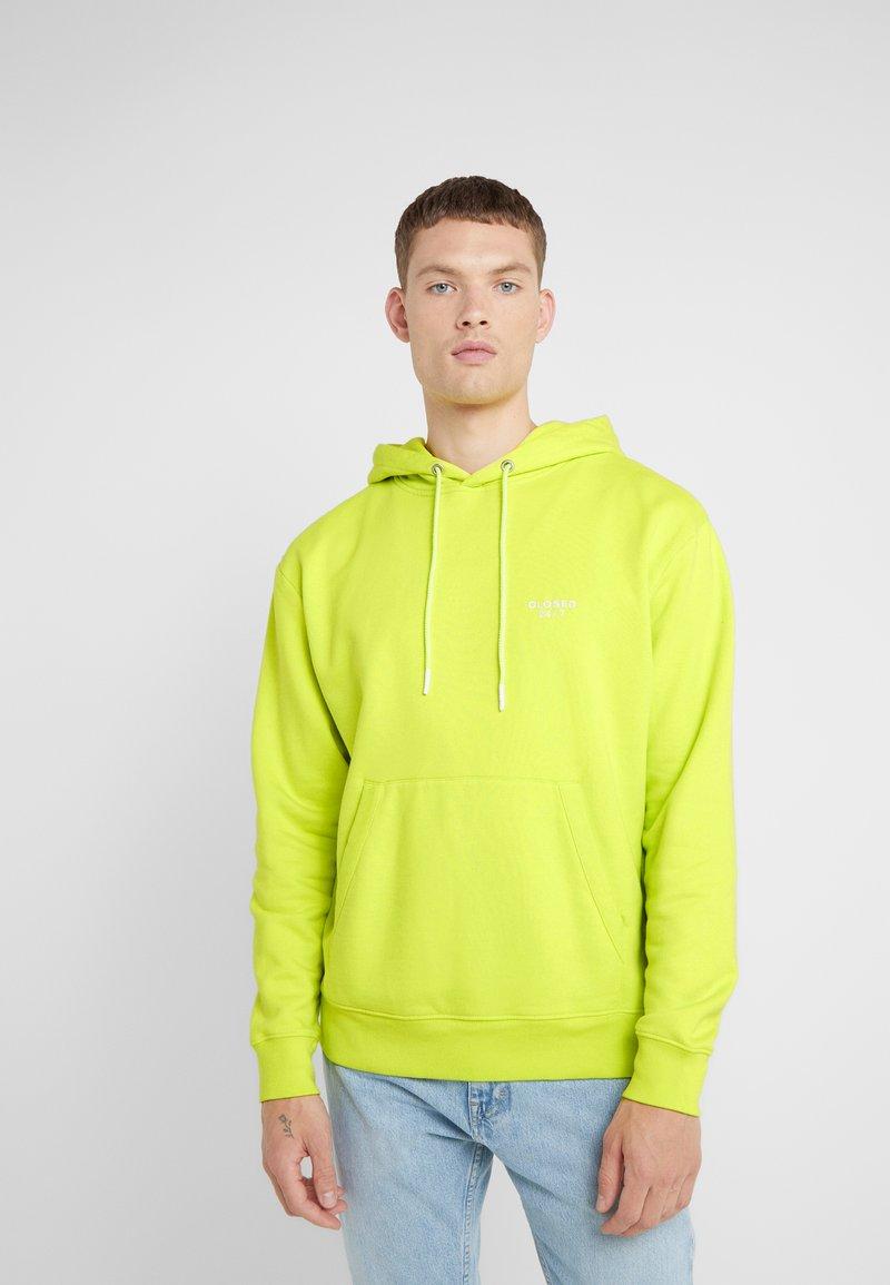 CLOSED - Mikina skapucí - neon yellow