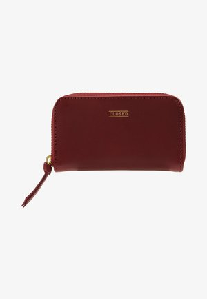 SMALL ZIP WALLET - Punge - deep wine