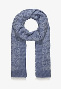 CLOSED - LONG RECTANGLE TILE PRINT SCARF - Šála - mid blue - 1