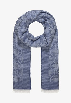 LONG RECTANGLE TILE PRINT SCARF - Sjal / Tørklæder - mid blue