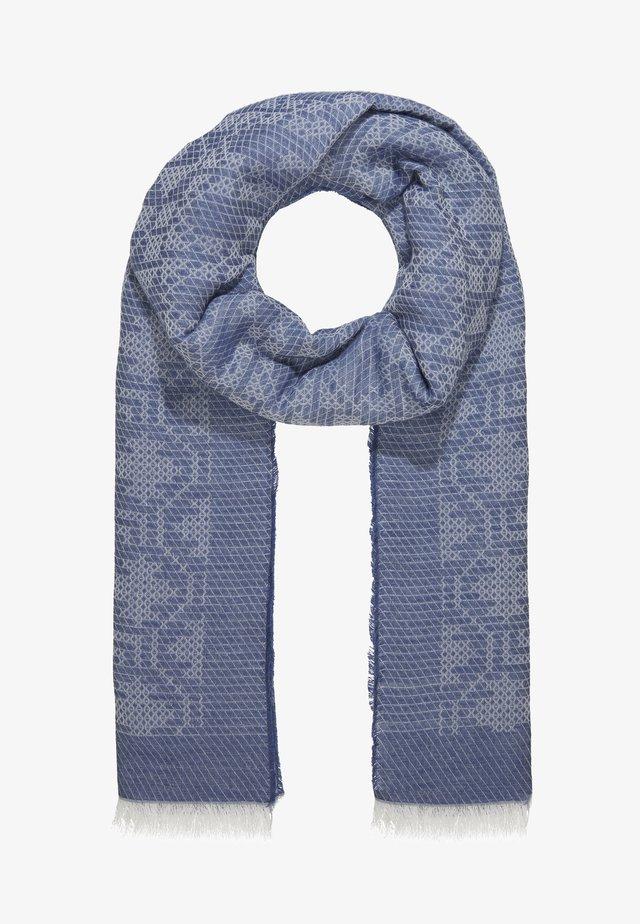 LONG RECTANGLE TILE PRINT SCARF - Šála - mid blue