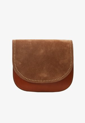 HOLLY FLAPOVER SHOULDER - Olkalaukku - golden oak