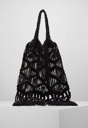 MACRAME SHOULDER - Tote bag - black