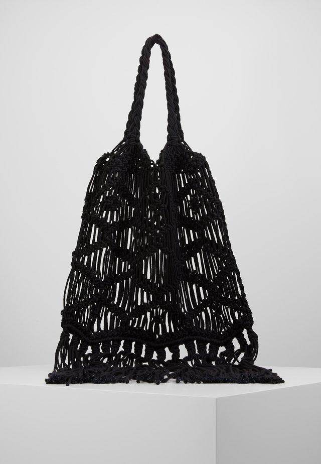 MACRAME SHOULDER - Shopping Bag - black