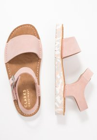 Clarks Originals - LUNAN STRAP - Sandalias - light pink - 3