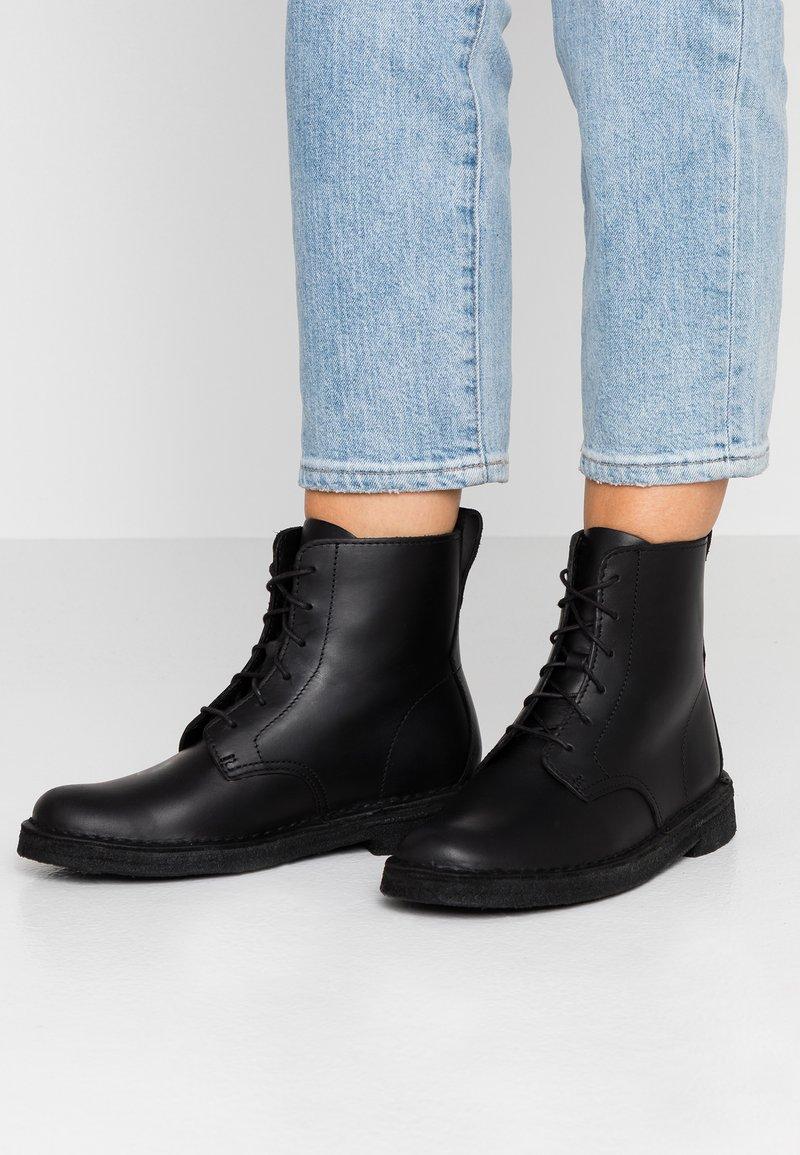 Clarks Originals - DESERT MALI - Lace-up ankle boots - black