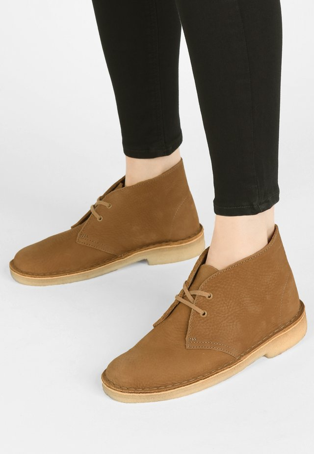DESERT - Lace-up ankle boots -  brown