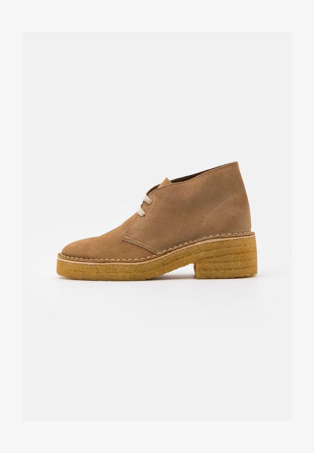 ARISA DESERT - Boots à talons - dark sand