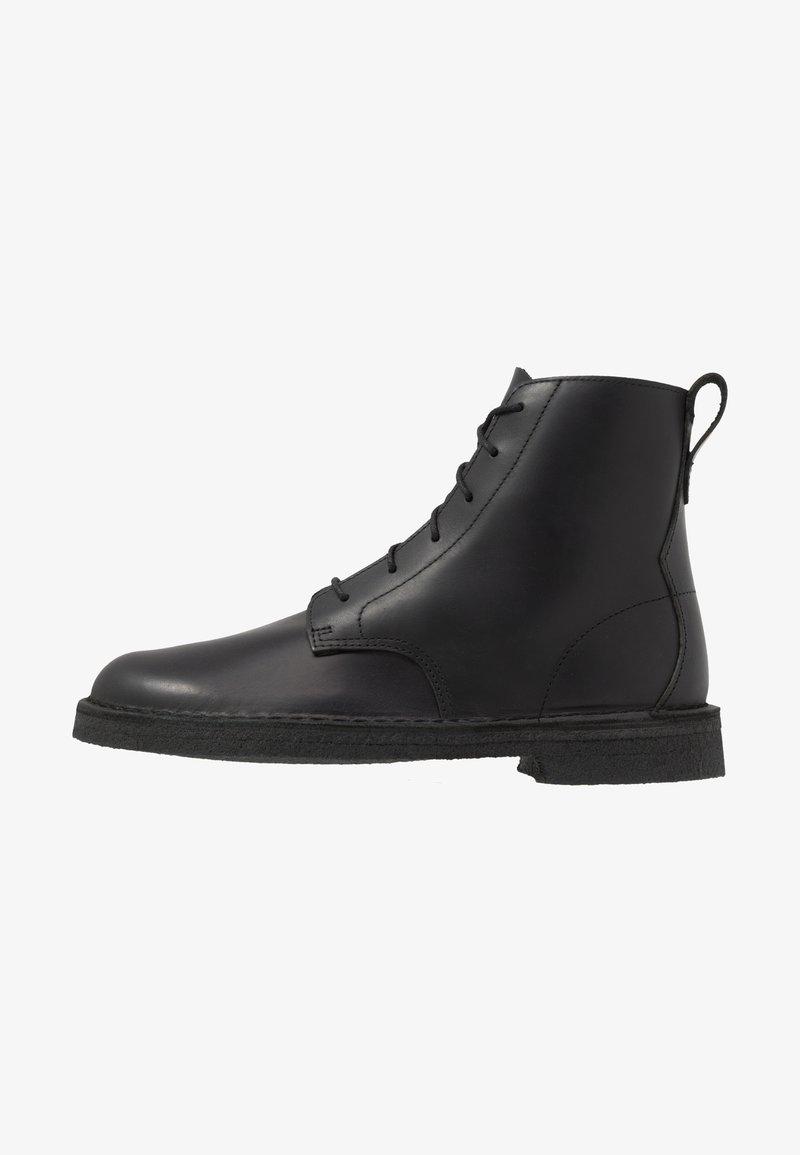 Clarks Originals - DESERT MALI - Lace-up ankle boots - black polished