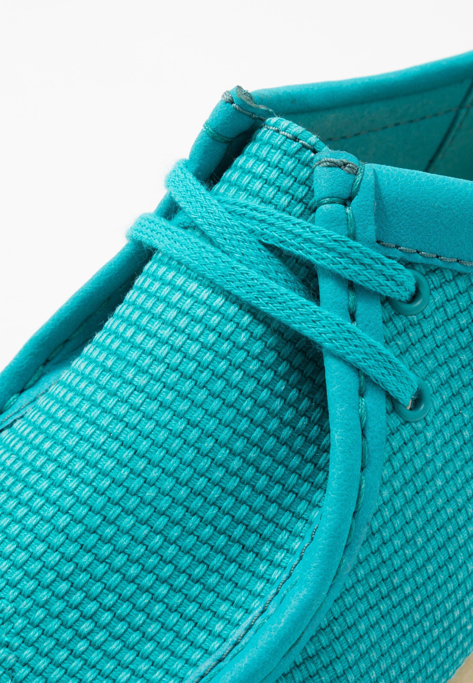Clarks Originals WALLABEE - Sznurowane obuwie sportowe - teal