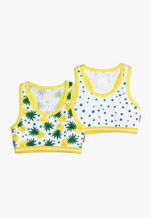 GIRLS SPORT BRA TOP 2 PACK - Korzet - white/yellow