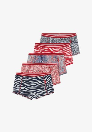 GIRLS BOXER  5 PACK  - Pants - navy red