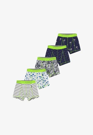 BOYS BOXER 5 PACK - Culotte - navy white