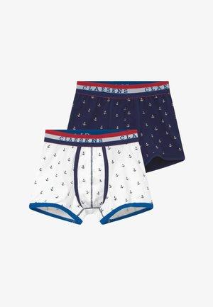 BOYS BOXER  2 PACK - Pants - blue/white