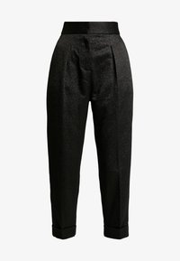 Closet - PLEATED TROUSER WITH TURN UP - Pantaloni - black - 4