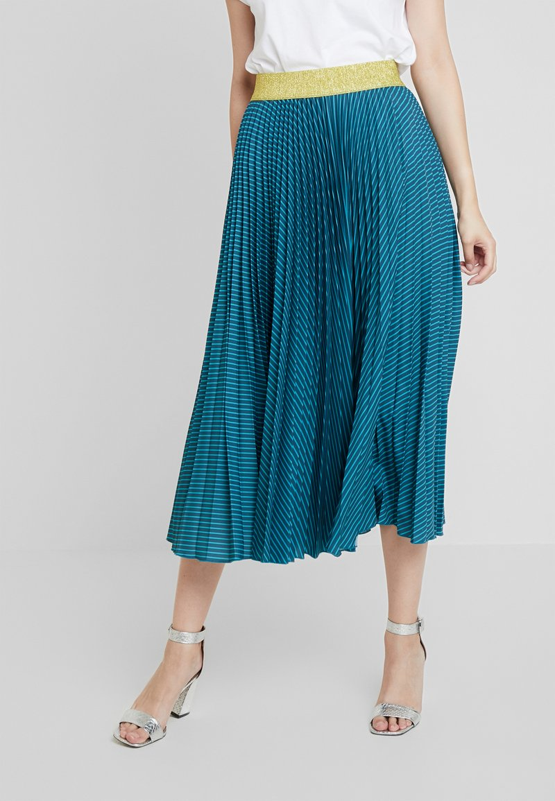 Closet - PLEATED SKIRT - Faltenrock - teal