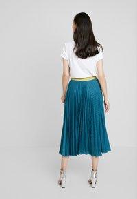 Closet - PLEATED SKIRT - Plisovaná sukně - teal - 2