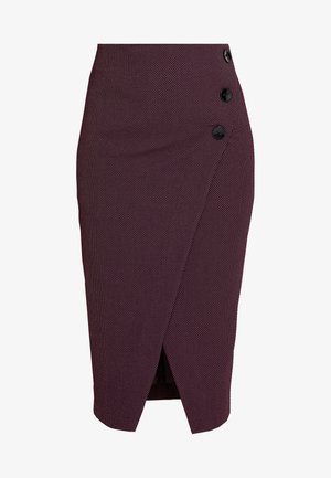 MIDI PENCIL DRESS - Gonna a tubino - maroon