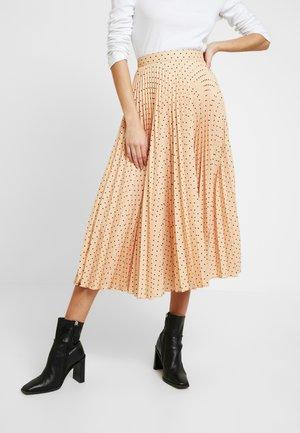 PLEATED MIDI SKIRT - Áčková sukně - apricot