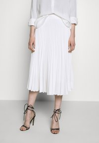 Closet - CLOSET PLEATED SKIRT - Pouzdrová sukně - white - 0