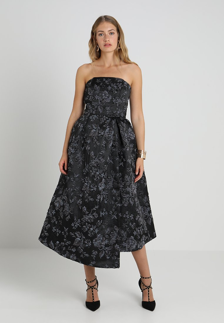 Closet - STRAPLESS DRESS - Vestido de fiesta - charcoal