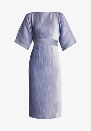 KIMONO SIDE SLIT MIDI DRESS - Sukienka letnia - blue
