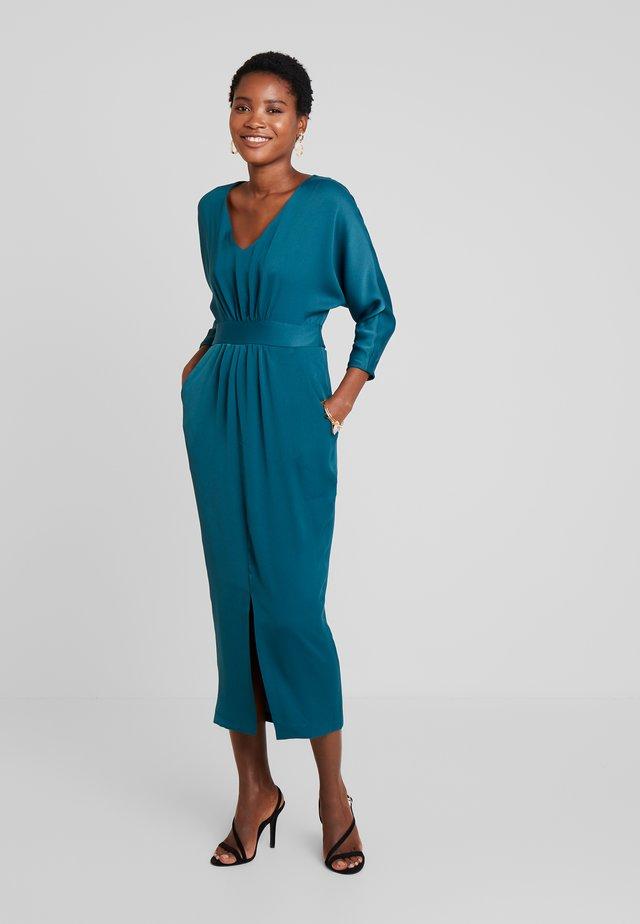 CLOSET GATHERED WAIST TULIP DRESS - Maxi dress - forest green