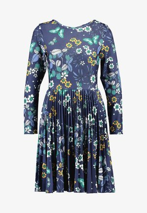 CLOSET SUNRAY PLEATED DRESS - Vestito di maglina - navy
