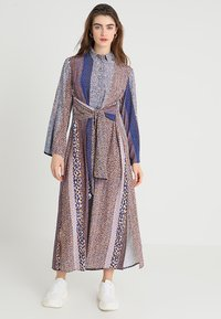 Closet - CLOSET FRONT TIE DRESS - Maxi dress - navy - 1