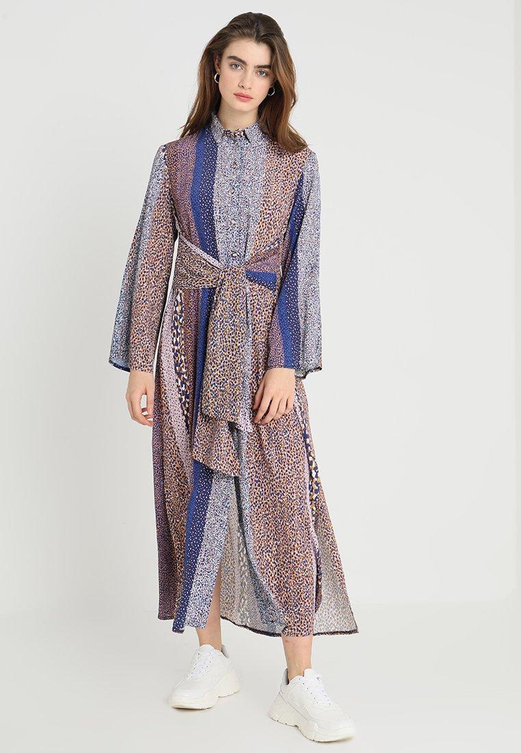 Closet - CLOSET FRONT TIE DRESS - Maxi dress - navy