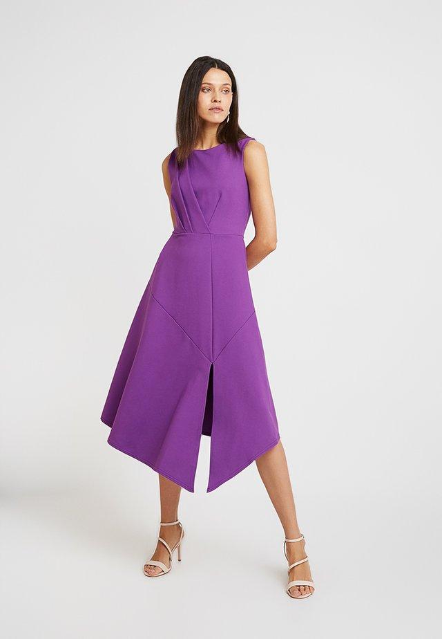 DRAPED FRONT A LINE DRESS - Maxikleid - purple