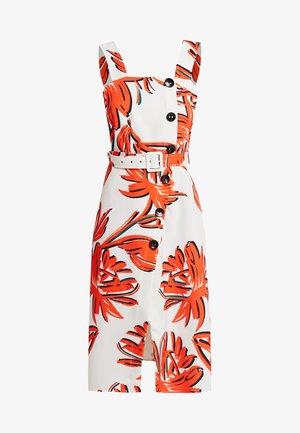 BUTTON DETAIL MIDI DRESS - Shirt dress - orange