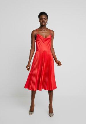 COWL NECK PLEATED DRESS - Vestito elegante - red