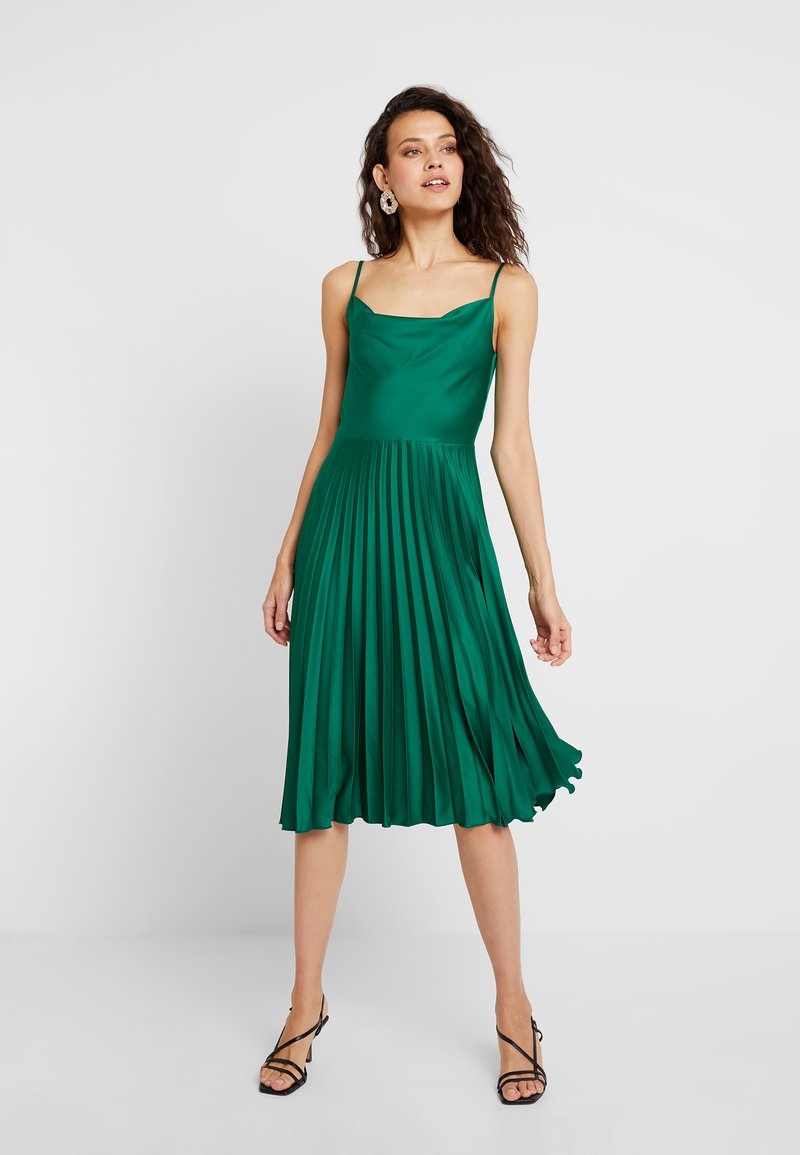 Closet - COWL NECK PLEATED DRESS - Cocktail dress / Party dress - green