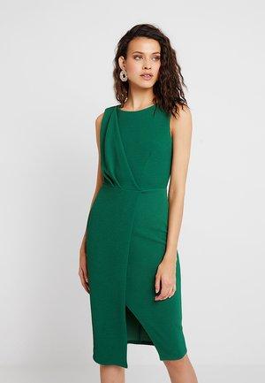 DRAPED SLEEVELESS WRAP DRESS - Pouzdrové šaty - green