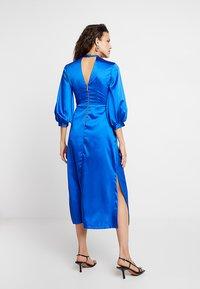 Closet - GATHERED NECK A-LINE DRESS - Galajurk - blue - 2
