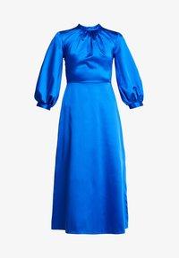 Closet - GATHERED NECK A-LINE DRESS - Galajurk - blue - 5