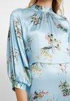 Closet - CLOSET GATHERED NECK A-LINE DRESS - Cocktailkleid/festliches Kleid - blue